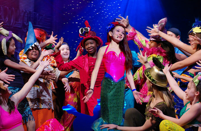 Children performing in the Broadway Junior version of The Little Mermaid. Photo: MTI
