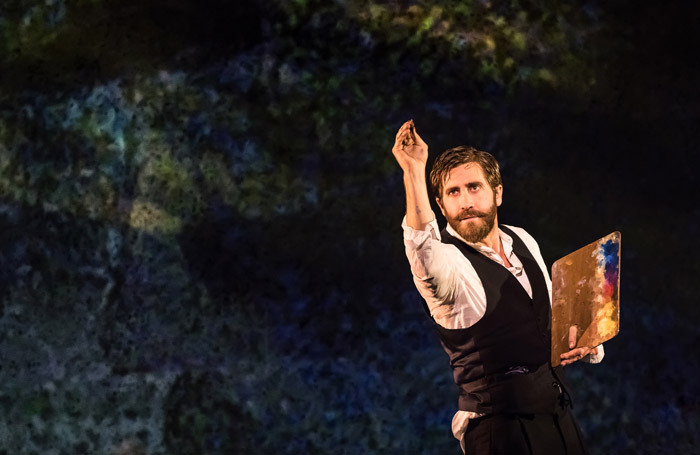 Jake Gyllenhaal in Sunday in the Park With George at Hudson Theatre, New York. Photo: Matthew Murphy