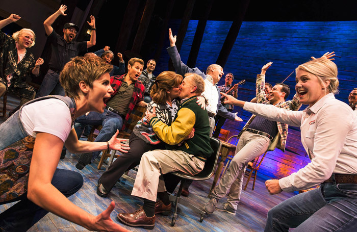 The cast of Come from Away on Broadway. Photo: Matthew Murphy,