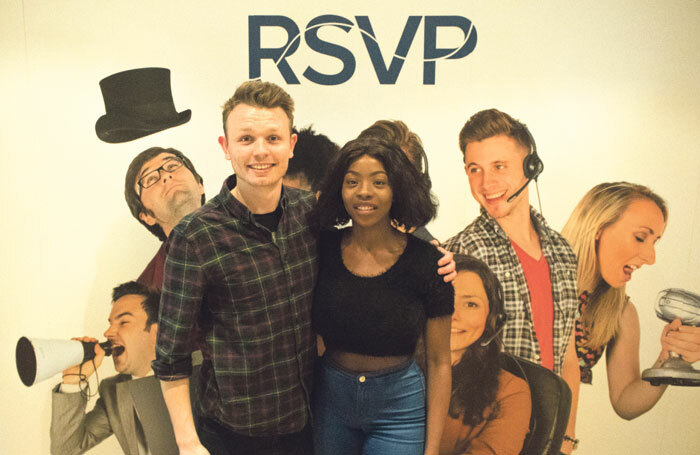 Zachary Cooke and Lolade Rufai at RSVP call centre. Photo: Zachary Cooke