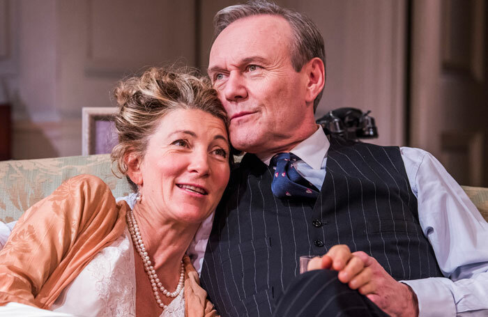 Eve Best and Anthony Head in Love In Idleness at the Menier Chocolate Factory. Photo: Tristram Kenton