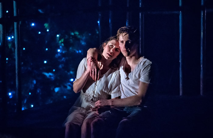 Tessa Parr and Dan Parr in Romeo and Juliet at West Yorkshire Playhouse.  Photo: Anthony Robling