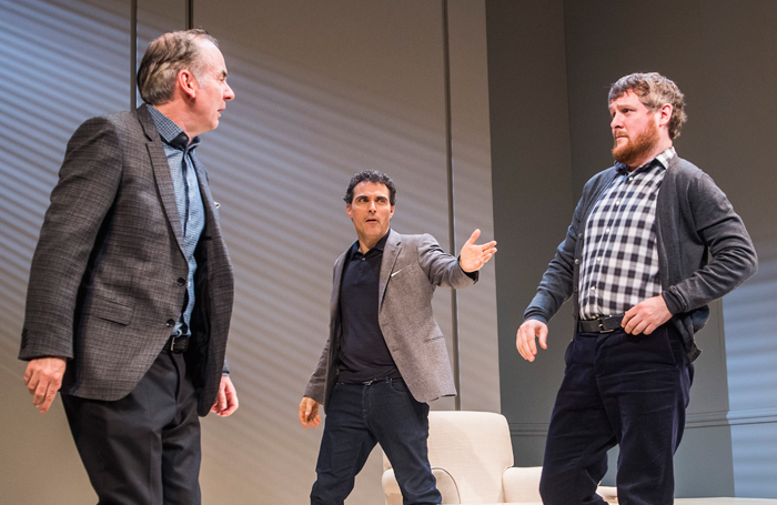 Paul Ritter, Rufus Sewell and Tim Key in Art by European playwright Yasmina Reza, staged at London's Old Vic. Photo: Tristram Kenton