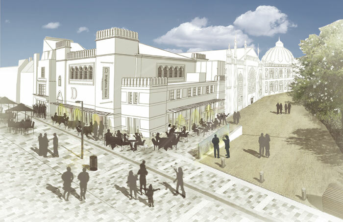 Artist's impression of the Brighton Dome Studio Theatre entrance and cafe