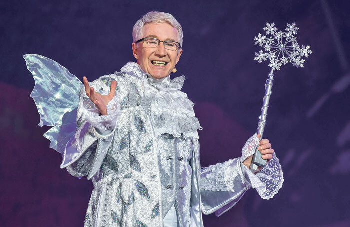 Paul O'Grady in Birmingham's Barclaycard Arena's Cinderella in 2015. Photo: James Watkins