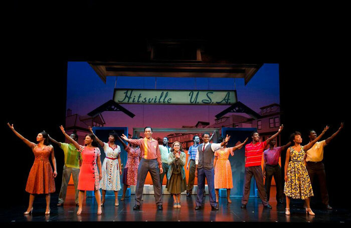 The cast of Motown the Musical at the Shaftesbury Theatre, London. Photo: Alastair Muir