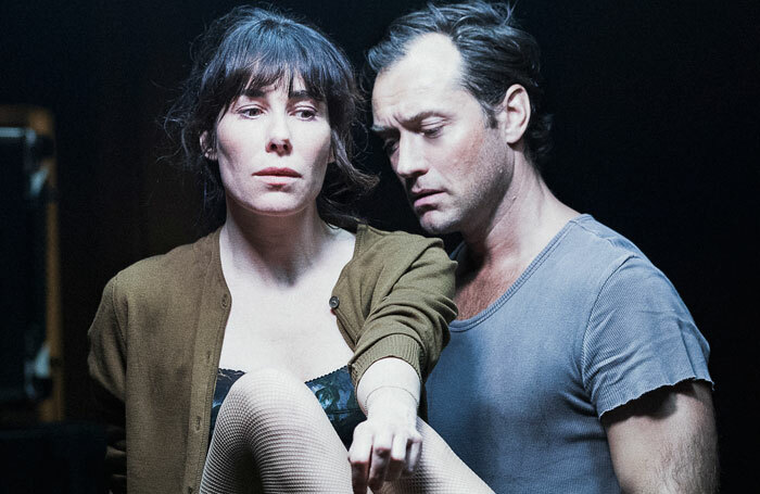 Halina Reijn and Jude Law in Obsession at the Barbican. Photo: Jan Versweyveld
