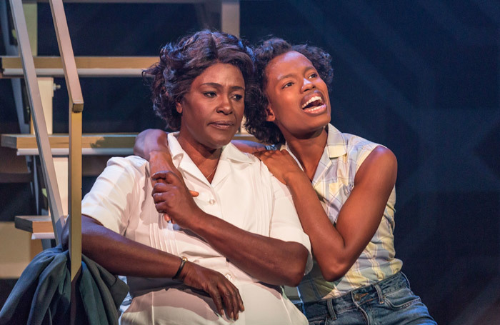 Sharon D Clarke and Abiona Omonua in Caroline, Or Change at the Minerva Theatre, Chichester. Photo: Marc Brenner