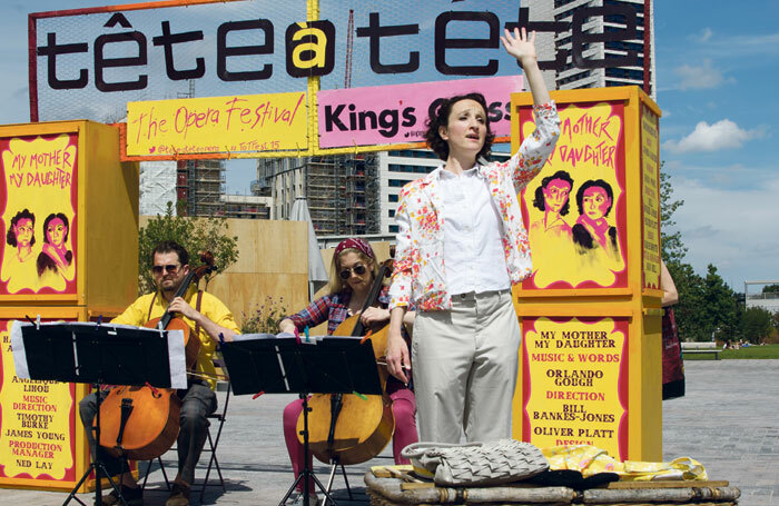 Tete a Tete's outdoor opera festival in Cubitt Square, near London's King's Cross Station in 2015. Photo: Claire Shovelton