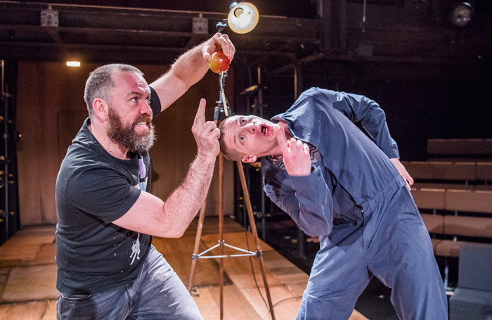 Brendan Cowell and Billy Howle in Life of Galileo at Young Vic, London. Photo: Tristram Kenton
