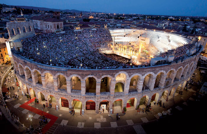 Arena di Verona. Photo: photos: Foto Ennevi/courtesy of Fondazione Arena di Verona