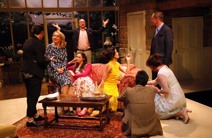 The cast of House at Watermill Theatre, Newbury