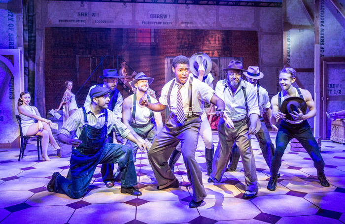 Tarinn Callender and the ensemble in Kiss Me Kate at Kilworth House Theatre