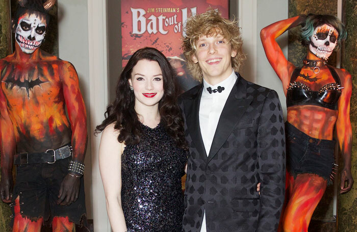 Cast members Christina Bennington and Andrew Polec at Bat Out of Hell press night. Photo: Piers Allardyce