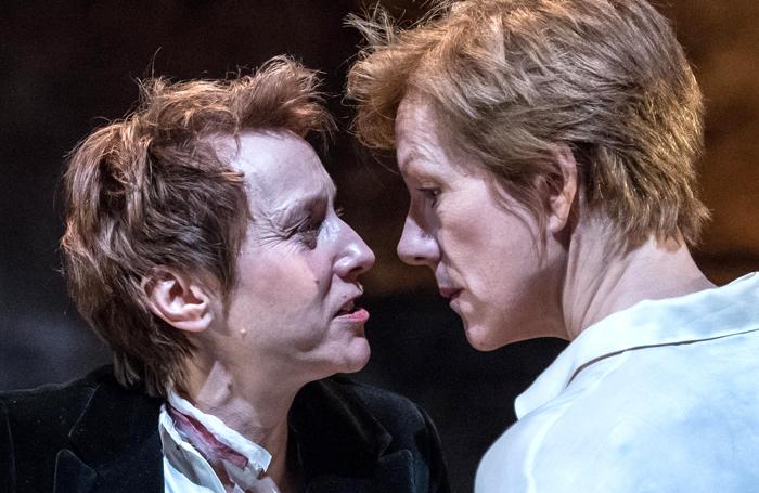 Lia Williams and Juliet Stevenson in Mary Stuart at the Almeida Theatre. Photo: Manuel Harlan