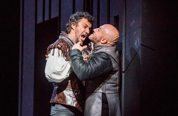 Jonas Kaufmann and Marco Vratogna in Verdi's Otello at the Royal Opera House, London. Photo: Tristram Kenton
