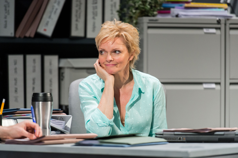 Sharon Small in Luna Gale, written by Rebecca Gilman, at the Hampstead Theatre, London, in 2015. Photo: Manuel Harlan