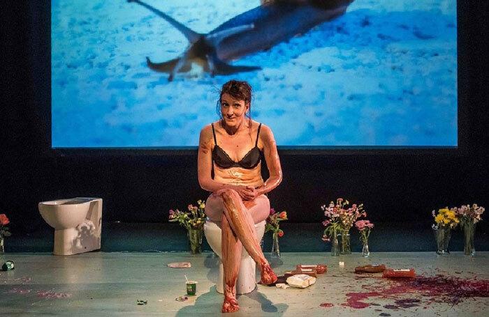 Liz Richardson in Gutted at Pleasance Dome, Edinburgh. Photo: Chris Payne