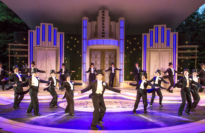Dan Burton and company in Top Hat at Kilworth House Theatre. Photo: Jems Photography