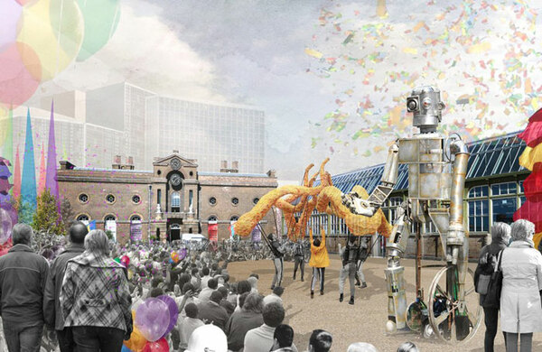 Designs for £31m creative district in Woolwich unveiled