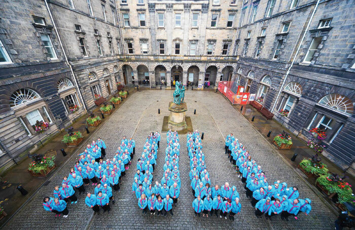 150 Hull UK City of Culture 2017 volunteers took to the streets of Edinburgh to promote Hull UK City of Culture's showcase at the Edinburgh Festival Fringe