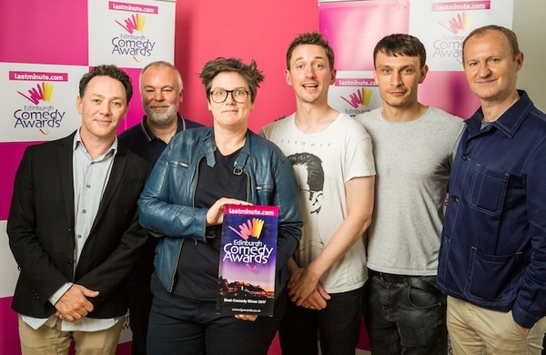 Hannah Gadsby and John Robins named joint winners of Edinburgh Comedy Awards