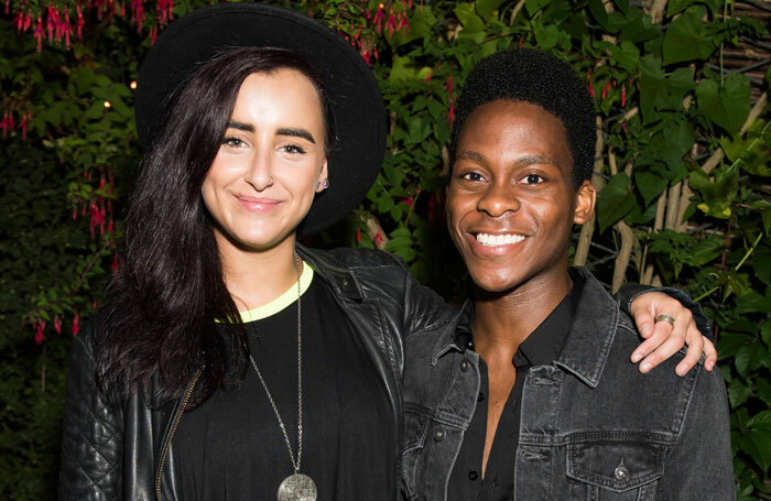 Cast members Maimuna Memon and Tyrone Huntley at the press night for Jesus Christ Superstar. Photo: David Jensen