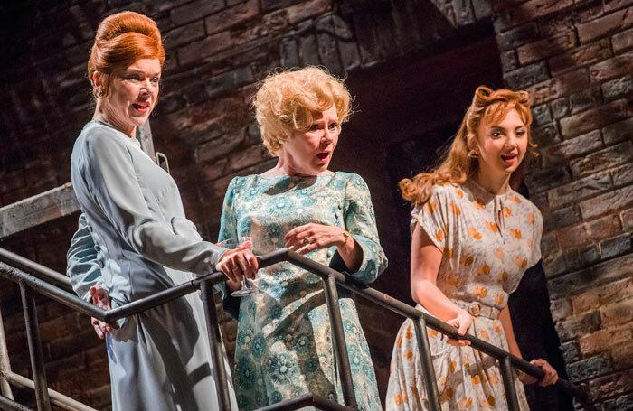 Janie Dee, Imelda Staunton and Zizi Strallen in Follies at the Olivier. Photo: Tristram Kenton