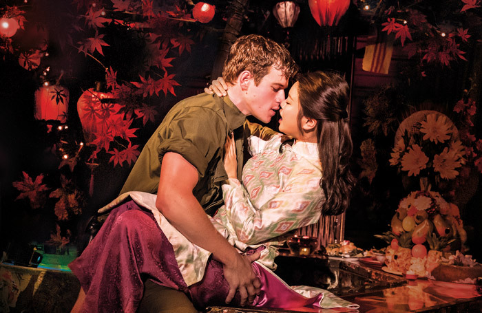 Ashley Gilmour and Sooha Kim in Miss Saigon at Birmingham Hippodrome. Photo: Johan Persson