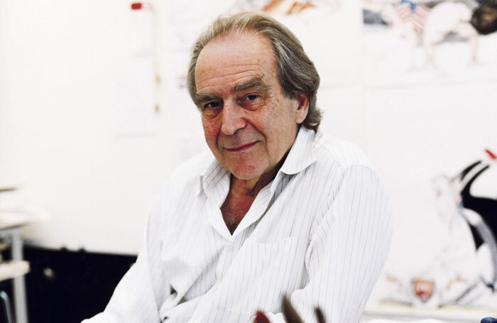 Gerald Scarfe in his studio