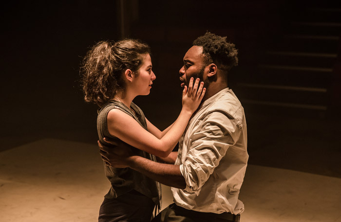 Norah Lopez Holden and Abraham Popoola in Othello at Tobacco Factory, Bristol