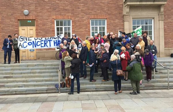 Theatre groups protest against proposed Derby Assembly Rooms replacement