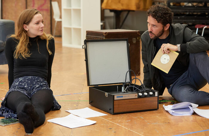 Morfydd Clark and Richard Mylan in rehearsal for The Cherry Orchard. Photo: Mark Douet
