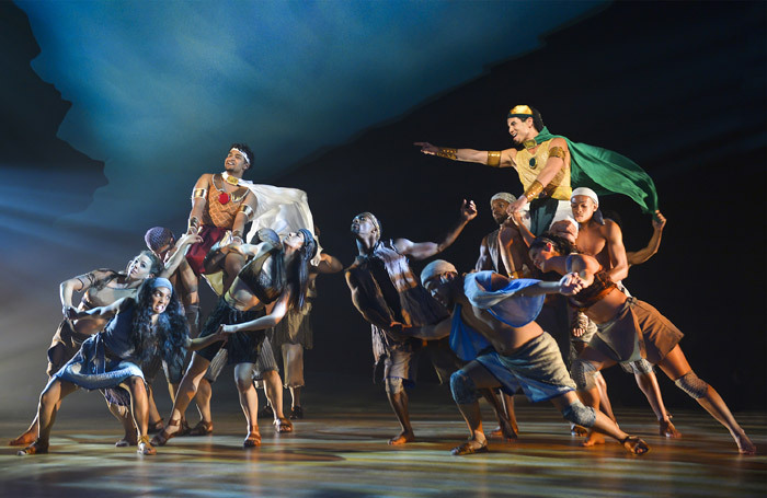 The cast of The Prince of Egypt at Mountain View Center for the Performing Arts, California. Photo: Kevin Berne