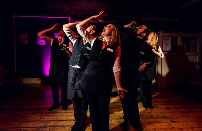 A scene from  Ushers – the Front of House Musical, which premiered at the Hope Theatre in Islington in 2013