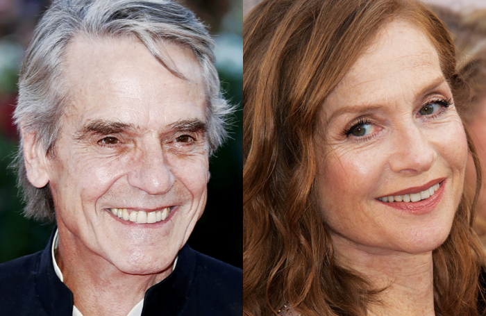 Jeremy Irons and Isabelle Huppert. Photo: Shutterstock