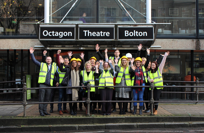 The team at the Octagon Theatre, Bolton, launch their funding campaign to prepare the theatre for the future