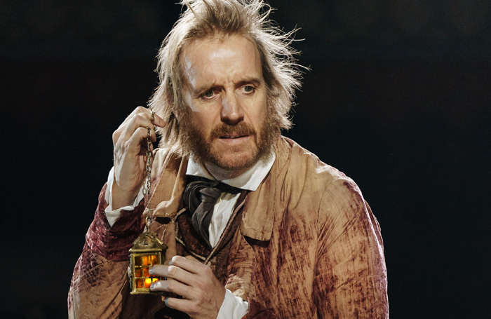 Rhys Ifans in A Christmas Carol at the Old Vic. Photo: Manuel Harlan