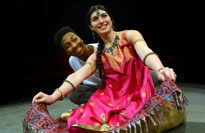 Marcquelle Ward and Dora Rubinstein in Aladdin at the Dukes, Lancaster