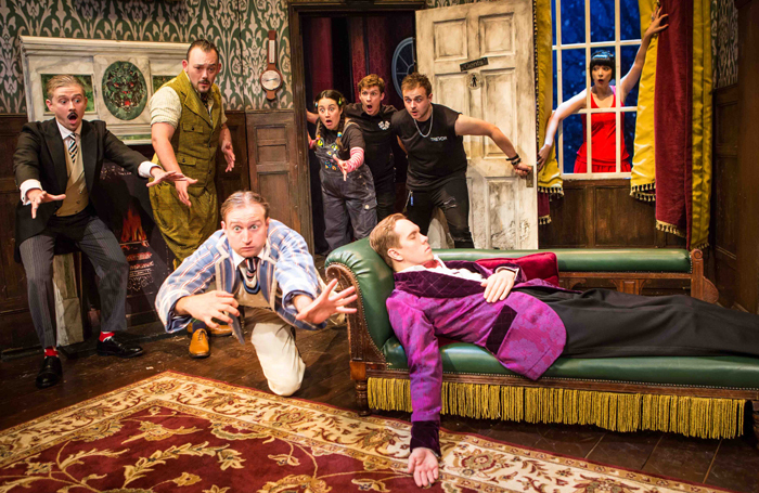 Mischief Theatre's long-running hit The Play That Goes Wrong parodies a disastrous show. Photo: Tristram Kenton
