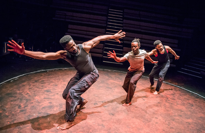 The cast of The Brothers Size at the Young Vic, London. Photo: Tristram Kenton