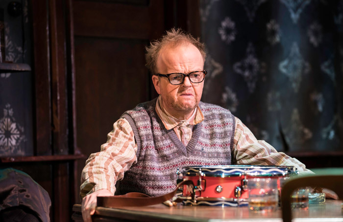Toby Jones in The Birthday Party at Harold Pinter Theatre, London. Photo: Johan Persson