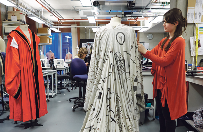 Costume students at Guildhall School of Music and Drama. Photo: Paul Cochrane