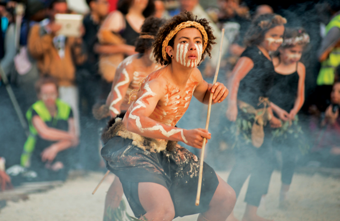 Tanderrum at the opening of the 2015 Melbourne Festival. Photo: Richie Hallal