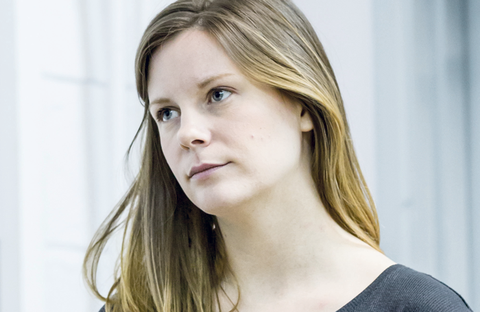 Rebecca Frecknall during rehearsals for Summer and Smoke at the Almeida Theatre. Photo: Marc Brenner
