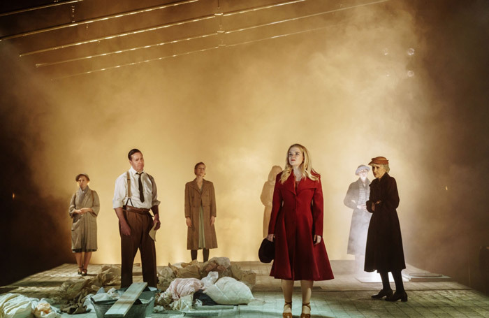 The cast of The Shadow Factory at NST City, Southampton. Photo: Manuel Harlan