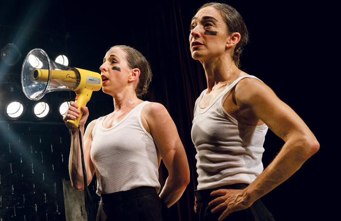 Anna Bass and Monica Bill Barnes in One Night Only (Running  As Long As We Can). Photo: Joan Marcus