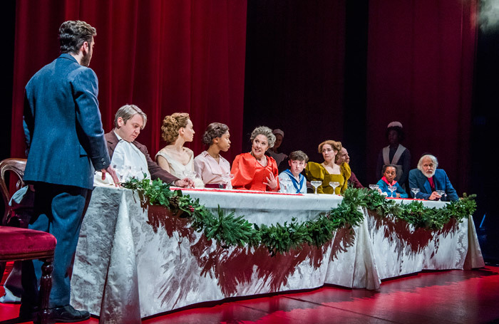 The cast of Fanny and Alexander at Old Vic, London. Photo: Tristram Kenton