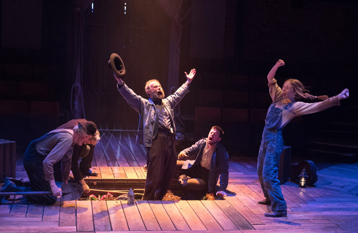 The cast of Paint Your Wagon at Everyman Theatre, Liverpool. Photo: Jonathan Keenan