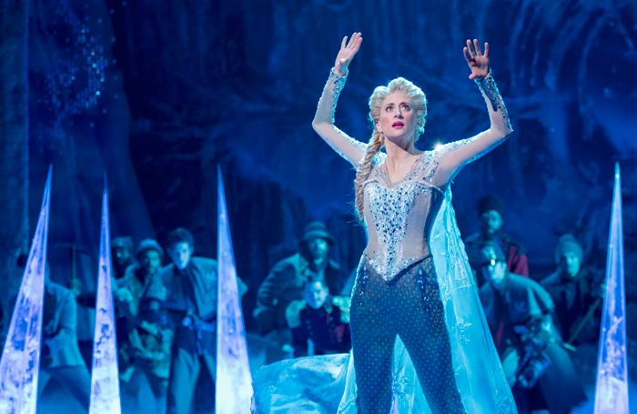 Caissie Levy in Frozen. Photo: Deen van Meer